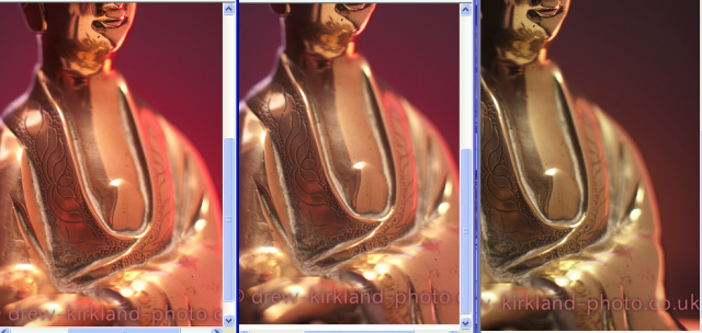 Rendered in Internet Explorer 8. Left to Right : sRGB, Adobe RGB, ProPhoto RGB