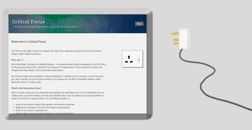 image shows a plug socket on a blog page